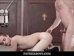 Twink Catholic Altar Boy Fucked By Priest During Training