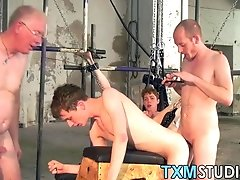 Young butt buddies fuck with mature pervert hard and fast