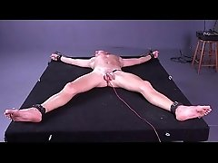 Tied Alexey gets electrical stimulation - Russian twink