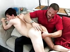 Teen need money so he seduces his step-dad + gets creampied