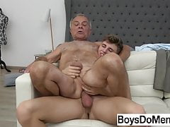 Twink s Premature Ejaculation Turns Grandpa On