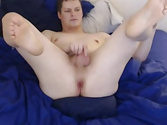 Smooth Twink Amazing Ass play and cum