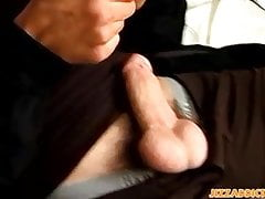 Tattooed young gays wanking off after mutual dick sucking