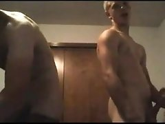 Two cute boys with awesome dicks cums on cam