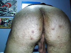 Spanish Handsome Boy Cums,Super Hot Bubble Hairy Ass On Cam