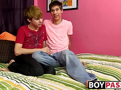 Naughty twinks James and Kyler first ever porn video