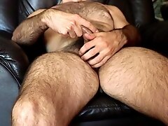 Masturbation Hairy young man