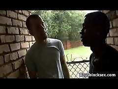 Black Gay Muscular Man Fuck WHite Skinny Boy 04