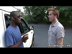 Black Gay Muscular Man Fuck WHite Skinny Boy 03