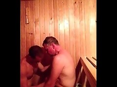 Daddy Sauna Suck and Cum in Verbier
