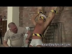 Male gay twink self bondage Slave Boy Made To Squirt