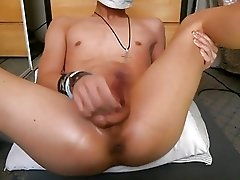 Tan&Smooth Twink Fingering Asshole Cum