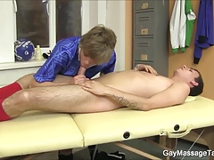 Two Uncut Cocks Massage Blowjob