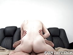 Seductive twink riding daddies cock after sensual blowjob