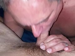 Younger enjoying daddies mouth