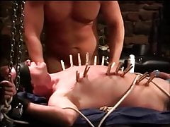 Teen slave with two men