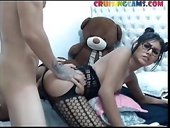 Sexy trans ass drilled live on Cruisingcams com