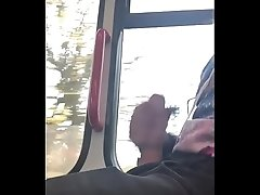 Masturbaiting on public bus and cumming