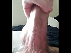 20 year old me jerking my thick cock