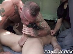 Twink has gay sex with his stepdad in forbidden fetish fun