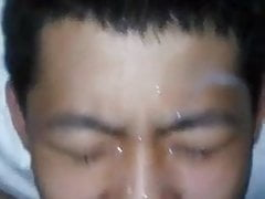Guy have cum all over face
