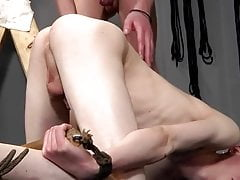 Twink slave gets abused and barebacked