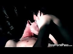 Vamp bite partners neck suck blood after rough anal sex