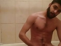 IRAQI ARAB BOY MUSLIM JERKS HIS COCK IN THE BATHROOM