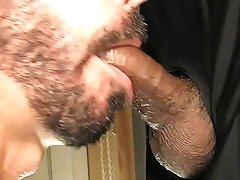big uncut black meat in my gloryhole