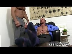 Gay twink feet naked Hugh Hunter Worshiped Until He Cums