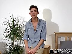 Slender british gay Keiran Cooper interviewed before solo