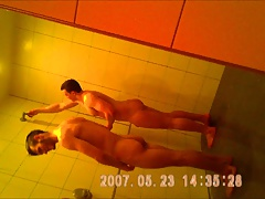gym showers caught 21 sexy young friends