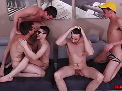 Five Twinks Take Online Fucking Directions