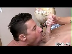 Horny twink sucks roommate&#039_s big rod in hot manners