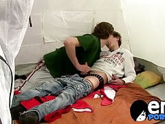 Cute Karel Fox pounded doggystyle after camping trip blowjob