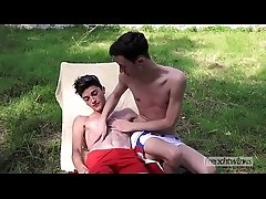 Outdoor passionate fuck between twinks Matteo Lavigne &amp_ Paul Delay