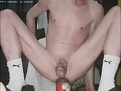 Fucking my faggot cunt and trying a new giant buttplug
