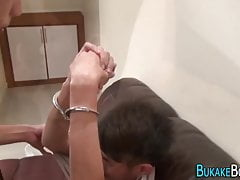 Gay asian twink riding and sucking