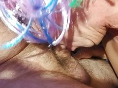 CD Sucks Boyfriends Cock Makes Him Edge to Cumshot