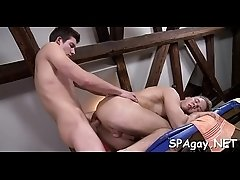 Twink is gratifying stud with wild anal fingering