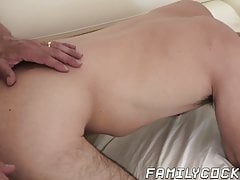 Forbidden stepson and daddy doggystyle bareback pounding