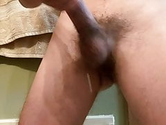 Twink jerking off before school! MASSIVE COCK!