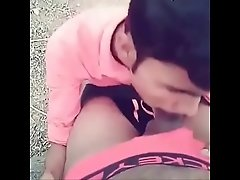 Indian Desi young Man Hari Prasad blowjob to stranger at park