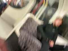 Hot Joggers Guy On Train Grabs Bulge