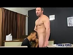 Lusty homo guys fuck in classroom