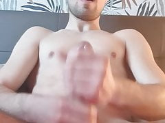 Horny German Boy wank his big Dick