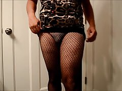Series 1 CD animal print club wear black bra strap vs thong