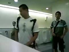 Japanese boy in public toilet