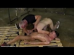 boy bound and handjob