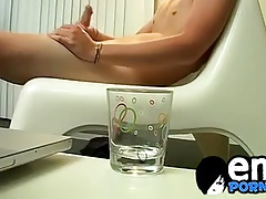 Sexiest emo alive Colby Bonds jerks his cock in the bathroom